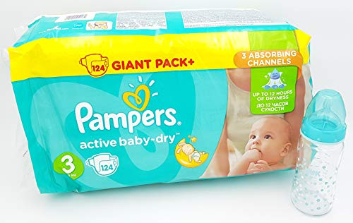 Pampers Active Baby Dry Windeln, Größe 3-1, 124 Stück