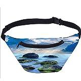 Bolsa de playa Fanny Pack Mística Seaside Stones Running Travel Sports Bags