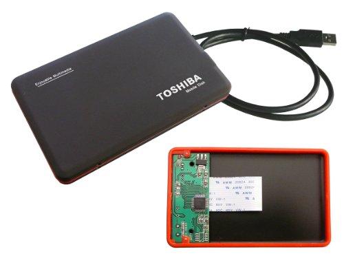 Kalea Informatique Externes Gehäuse aus Aluminium für ZIF-Festplatte 1,8 Zoll (4,6 cm), 40-polig, für Toshiba, Samsung, Hitachi, mit ZIF-Flachbandkabel, Schwarz matt