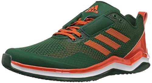 adidas Performance Men's Speed Trainer 3.0, Dark Green, Collegiate Orange, FTWR White, 12.5 M US