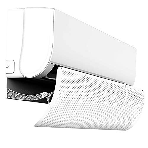 Siebwin Deflettore Condizionatore, Deflettore Aria Condizionatore Universale non fa condensa non è necessario alcun attrezzo con presa d'aria fine per Home Office (Bianco)