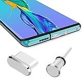 iMangoo Conector antipolvo para teléfono móvil conector antipolvo para smartphone USB C auriculares de 3,5 mm compatible con Samsung Galaxy S20/S20+/S20 tapón antipolvo para Huawei P30/Mate 30 MacBook