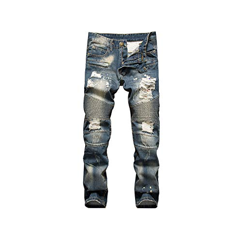 Rock Revival Uomo Jeans Pantaloni Moto Elliot s203