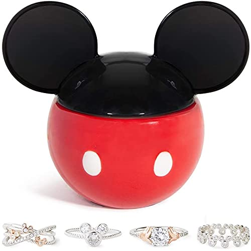 Charmed Aroma Disney Mickey Mouse Candle, 925 Sterling Silver Ring Collection (Ring Size 6)
