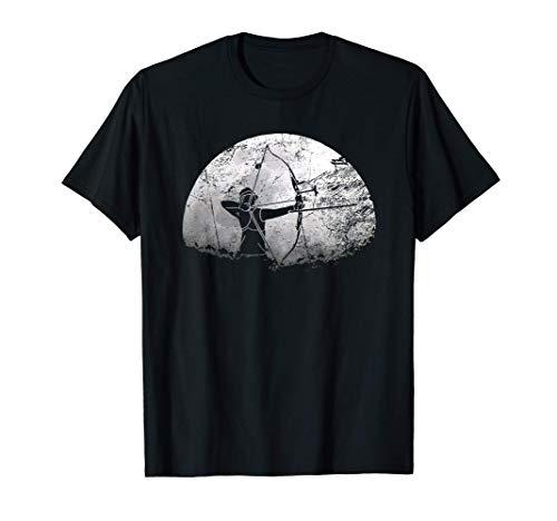 Tolles Bogenschütze Mond Bogenschießen Geschenk T-Shirt