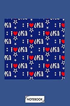 Neck Gaiter America I Heart Usa Face Mask Bandana Balaclava Headband Made In The Usa Notebook  Lined College Ruled Paper 6x9 120 Pages Journal Matte Finish Cover Planner Diary