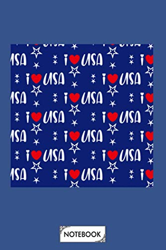 Neck Gaiter America I Heart Usa Face Mask Bandana Balaclava Headband Made In The Usa Notebook: Lined College Ruled Paper, 6x9 120 Pages, Journal, Matte Finish Cover, Planner, Diary