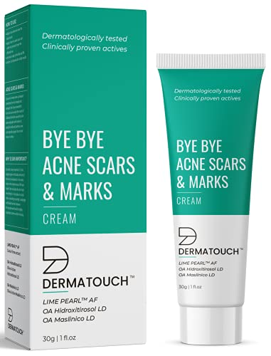 DERMATOUCH Bye Bye Acne Scars & Marks Cream || acne spots and scars corector || Formulated Specially to Address Scars & Marks || Gives Even Skin Tone || Suitable For All Skin Types - 30G