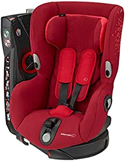 Bébé Confort Axiss Silla infantil giratoria para coche del grupo 1, ajuste extraseguro, reclinable, 9 meses - 4 años, 9 - 18 kg, rojo (Vivid Red)