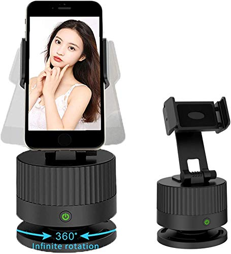 Face Tracking Selfie Holder Smart 360° Rotation Auto Portable for All iPhone Android Phone, Built-in 2400 mAh Battery
