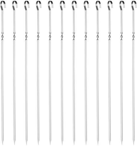GWHOLE 焼き串 バーベキュー串 バーベキューフォーク BBQフォークbbq 串 ステンレス製 竹串 木柄 バーベキューセット U字型ローストフォーク伸縮式フォーク 長さ調節可能 78cm