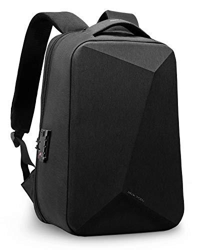 Mark Ryden Laptop-Rucksack, 15,6-Zoll-Business-Diebstahlschutz Schlanker, langlebiger Laptop-Rucksack mit USB-Ladeanschluss für Herren, wasserabweisender College-Rucksack (schwarz)