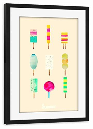 artboxONE Poster mit Rahmen schwarz 75x50 cm EIS von Mia Nissen - gerahmtes Poster