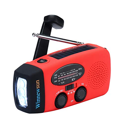 Emergency Radio Weather Radio Solar Crank AM/FM NOAA Radio with...