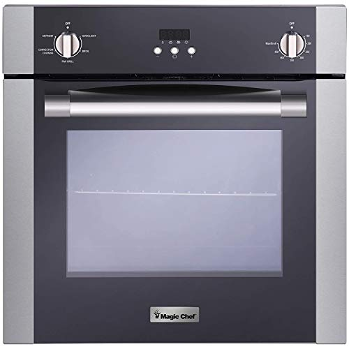 Magic Chef Electric MCSWOE24S 24″ 2.2 cu. ft. Single Wall Oven with Convection, Stainless Steel