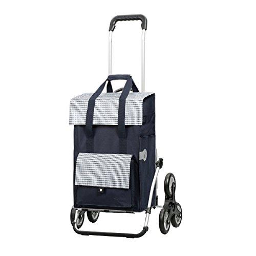 Andersen Einkaufstrolley Royal Treppensteiger und 49 Liter Einkaufstasche Milla blau