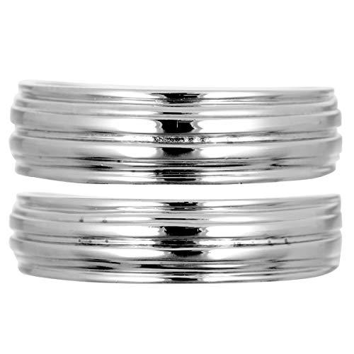 [ココカル]cococaru ペアリング 2本セット K10 ホワイトゴールド マリッジリング 結婚指輪 日本製 (レディースサイズ19号 メンズサイズ18号)