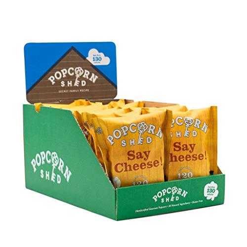 Popcorn Shed | Confezione monoporzione popcorn al formaggio Cheddar da 16 g, include 16 confezioni...