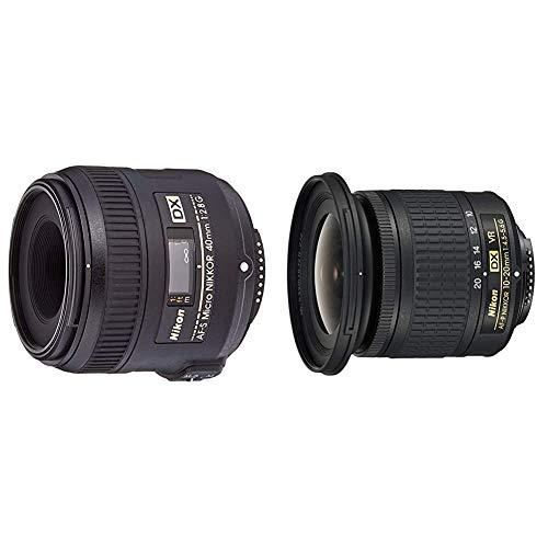 セット買いNikon 単焦点マイクロレンズ AF-S DX Micro NIKKOR 40mm f 2.8G ニコンDXフォーマット専用 & 広角ズームレンズ AF-P DX NIKKOR 10-20mm f 4.5-5.6G VR ニコンDXフォーマット専用