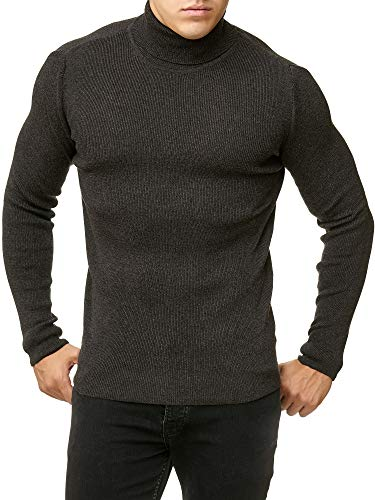 Red Bridge Herren Rollkragen Pullover Sweatshirt Strickpullover Anthrazit M
