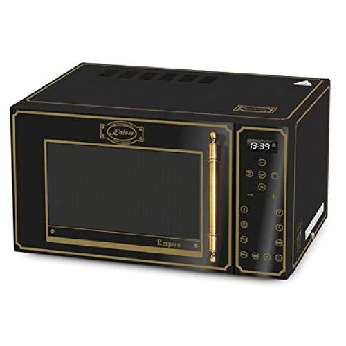 Kaiser Empire M 2500 Em retrò forno a microonde 25L con grill ad aria calda 21 funzioni, nero