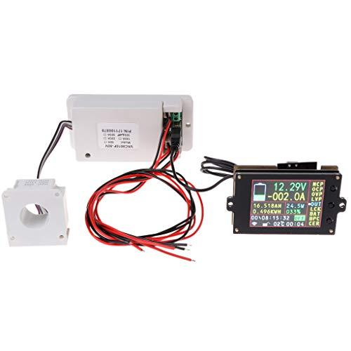 Xurgm LCD-Digital-Voltmeter Amperemeter Multimeter DC 0-80V 0-300A Spannung Strom Volt Amp Meter Messgerät Power Monitor mit Hall Sensor