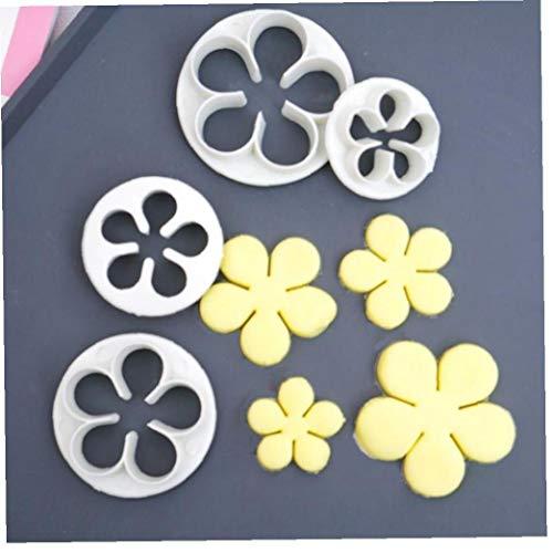 CULER 4pcs / Set-Rosen-Blumen-Form-plastikkunststoffseitenschneider Gebäck Fondant-biskuit-Form Kuchen, Die Werkzeuge Backen-Werkzeuge