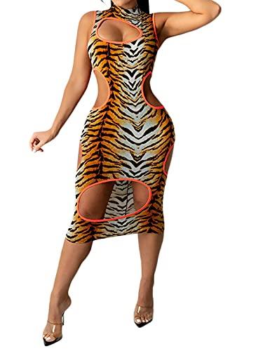 Uni Clau Women Summer Sexy Sheer Mesh Boydcon Midi Dress See Through...