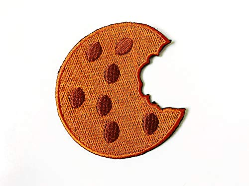 Cookie Cute Food Sweets Logo Embroidered Sew on Iron on Patch for Backpacks Jeans Clothing etc.