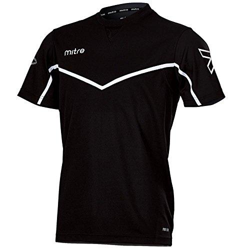 mitre Primero T- T-Shirt pour l'entraînement de Football Mixte Adulte, Bleu Marine/Blanc, FR : S (Taille Fabricant : S/M)