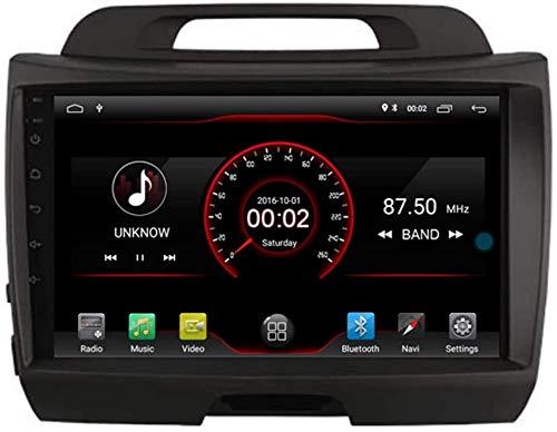 FGVBC Reproductor de DVD para automóvil GPS Unidad Principal estéreo Navi Radio Multimedia WiFi Compatible con Kia Sportage R SL 3 Generación 2010 2011 2012 2013 2014 2015 Control del Volante