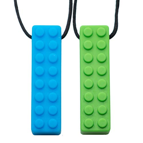 Tilcare Chew Chew Colgante - Lo mejor para niños o adultos a los que les gusta morder o tienen autismo - Colgante de silicona para masticar - Colgante masticable para niños y niñas