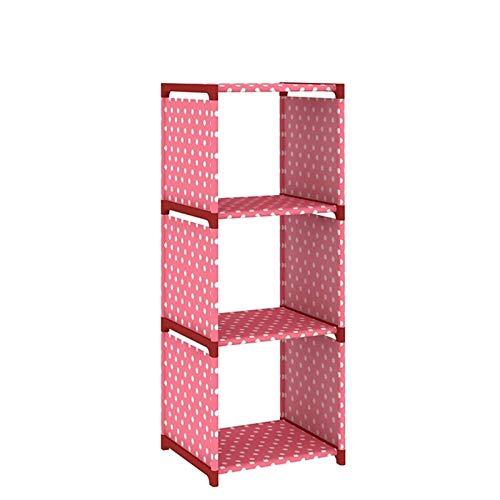 estante para libros Librería de 3 niveles no tejidos de libros de libros de libros de libros de libros portátil de armario de armario de armario de libros Organizador de almacenamiento de libros for s