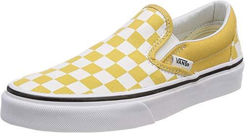 Vans Unisex Classic Slip-on Slip On Sneaker, Gelb (Checkerboard), 44 EU
