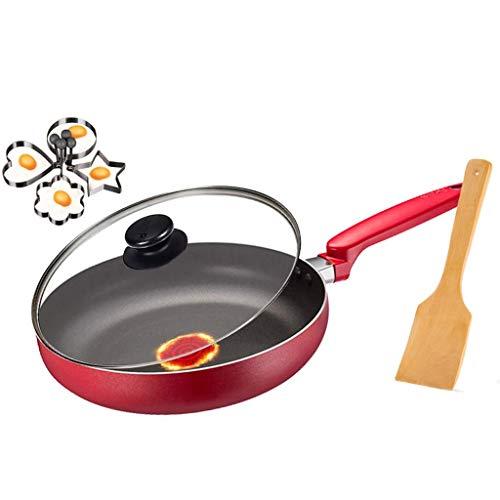 SMEJS Batterie de cuisine Poêle à frire avec couvercle, Petite poêle à frire antiadhésive avec revêtement en titane céramique (Size : 28x6.5cm)