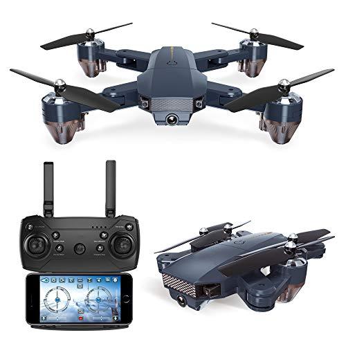 QAIYXM Faltbare Mini-Drohne mit Kamera WiFi HD FPV RC Quadcopter, mit Höhe zu halten und One-Key Return/Hover, Headless Modus, 3D-Flip, sehr geeignet für Anfänger,0.3million WiFi