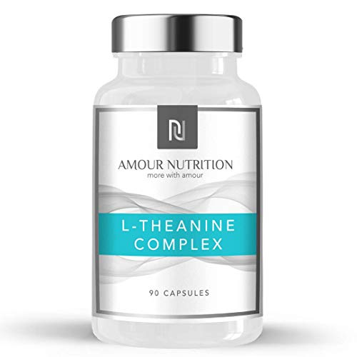 Amour Nutrition L-Theanine Complex Capsules, L- Theanine Matrix, Caffeine, Nootropic Cognitive Enhancer, UK Made Quality Assured