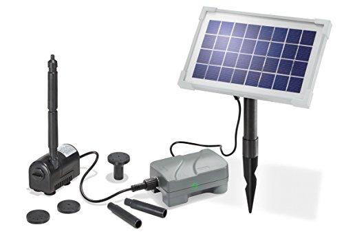 Solar Teichpumpenset Rimini plus 3,5W 175l/h mit Akku Solarpumpe Gartenteichpumpe esotec 101709