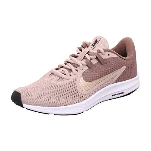 Nike Damen Downshifter 9 Running Shoe, Smokey Mauve/MTLC Red Bronze-Stone Mauve, 40 EU