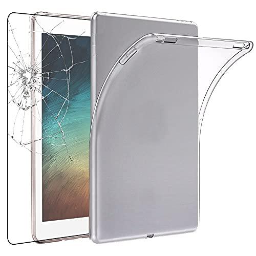 ebestStar - Funda Compatible con Samsung Galaxy Tab S7+ SM-T970 Carcasa Silicona, Protección Crystal Clear TPU Gel, Ultra Slim Case, Transparente + Cristal Templado [Tab S7+: 285x185x5.7 mm, 12.4'']