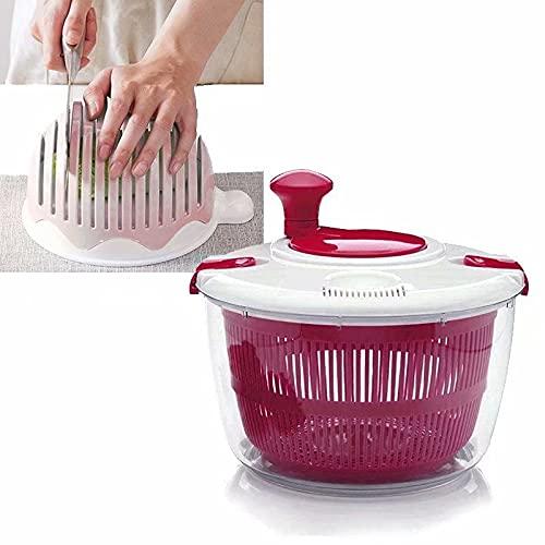 ScificWom Escurridor de ensalada para frutas y verduras, cesta centrifugadora de cocina, cesta de lavandería, cesta de lavandería, cesta de lavandería, rosasala