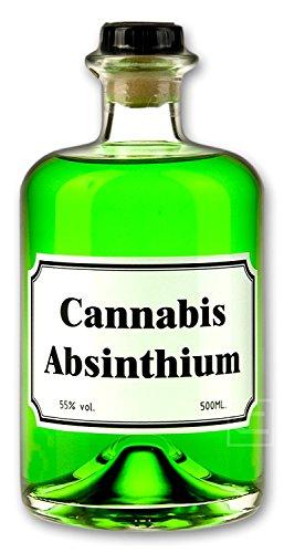 Grüner Cannabis Absinth (0,5l) Absinthe mit Cannabis Aromen verfeinert - Love, Peace & Harmony 55% vol.