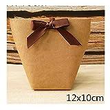 AGNN 5pcs Schwarz Weiß Bronzing Süßigkeit Papiertüte Hochzeit bevorzugt Geschenk-Kasten-Paket-Geburtstags-Party Favor Taschen (Color : Blank 12x10cm)