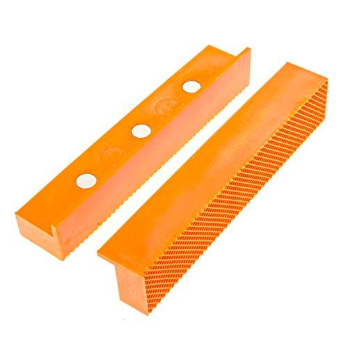 GarMills 2er-Pack Weiche Schraubstock-Schutzbacken, Universal Einsetzbare, Magnetische und Materialschonende Allzweck-Schraubstock-Schutzbacken 155 mm