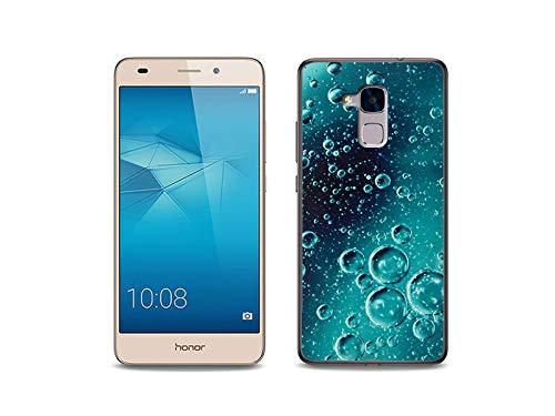 etuo Handyhülle für Huawei Honor 5C - Hülle, Silikon, Gummi Schutzhülle - Tröpfchen