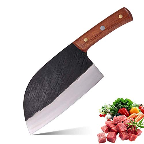 DENGJIA 72 Inch 5Cr15Mov Stainless Steel Blade Forged Chef Knife Meat Cleaver Chinese Kitchen Knife Vegetables Knife With Cuibourtia SPP Wood Advanced Solid Wood Handle