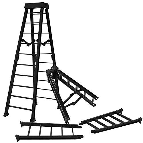 Set of 2 Large 10 Inch Breakaway Black Ladders for Wrestling Action Figures