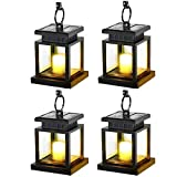 Kyson Solar Power Vintage Latern Candle Twinkle Effect 2 LEDs Outdoor Waterproof...