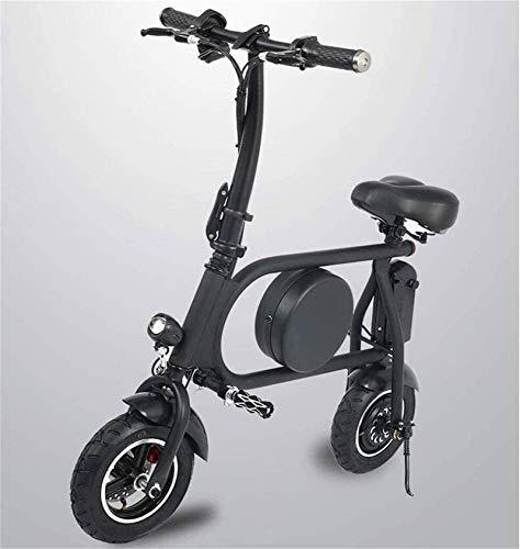 Bicicleta eléctrica de nieve, Bicicletas rápidas y Eléctrica en adultos asiento plegable E-scooter con motor de 500W impermeable doble absorción de choque 45 km de largo alcance Velocidad máxima 45 km