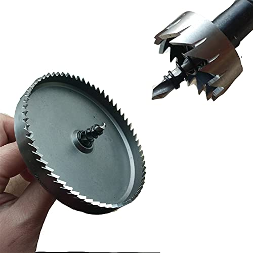 VIENDADPOW Industrial Drill Bits Hige qualuty 1pc HSS Drill Bit Hole Saw Metalworking Cutter Stainless Steel Alloy Metal Drilling Tip 15-100mm Drill Bit Drill Bits (Hole Diameter : 90mm)
